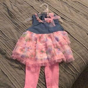 DDG Darlings flower tunic set size 12 months